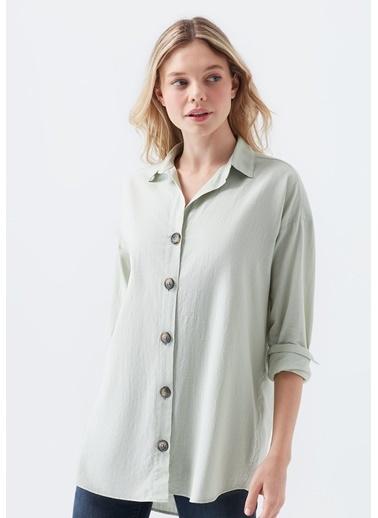 Mavi Kadın  Uzun Kollu Gömlek 122385-32131 Yeşil